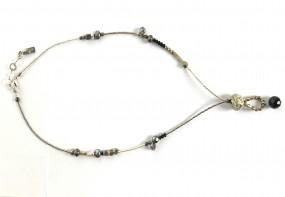 Halskette Schwarz-Silber-Murano