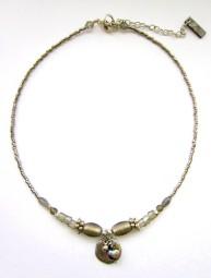 Halskette Khaki-Grau