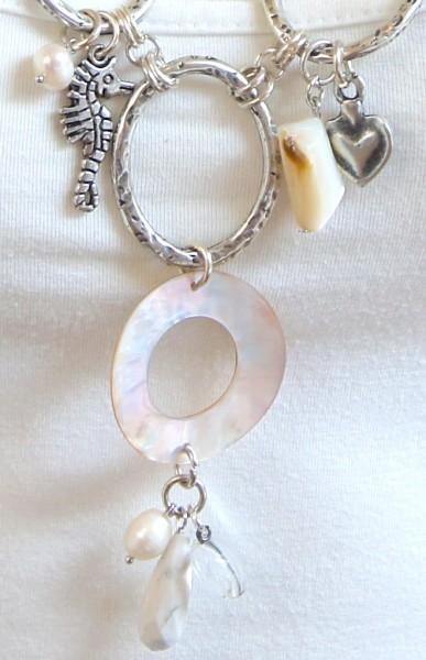 Fiva Kette Sommer Silber-Perlmutt