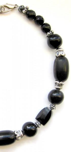 Fiva Halskette Ebony Silver