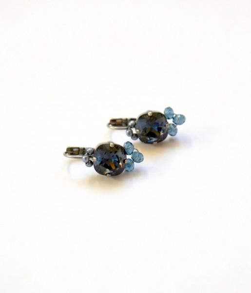 Fiva Basic Ohrringe Blau-Grau