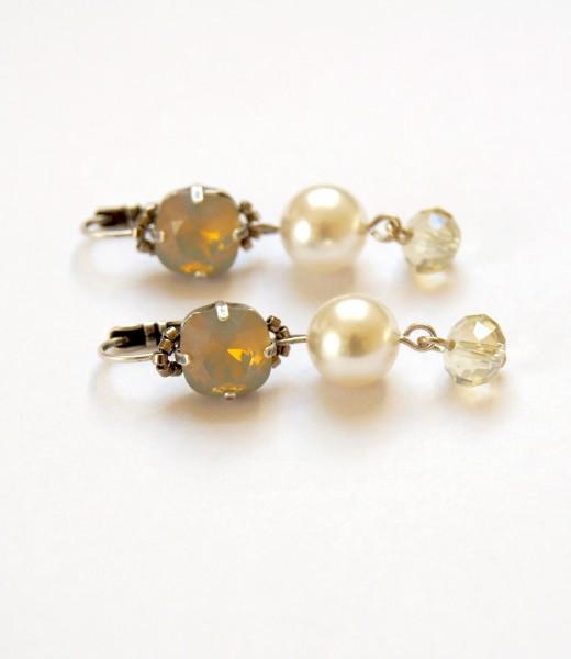 Ohrhänger Lightgrey-Opal-Perle